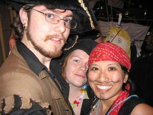 Aren't we a good-looking lot of pirates?